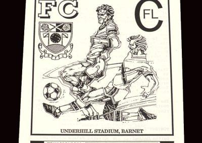 Barnet Reserves v Wealdstone Reserves 30.10.1991
