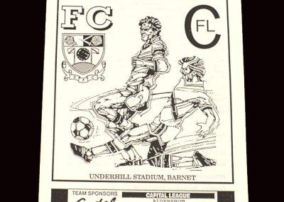 Barnet Reserves v Aldershot Reserves 20.11.1991