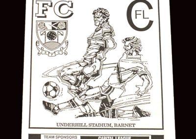 Barnet Reserves v Colchester Reserves 04.12.1991