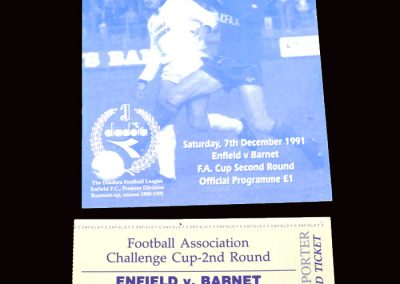 Barnet v Enfield 07.12.1991 - FA Cup 2nd Round