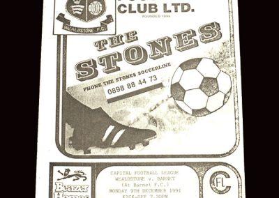 Barnet Reserves v Wealstone Reserves 09.12.1991