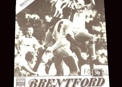 Barnet v Brentford 17.12.1991 - FA Trophy 2nd Round