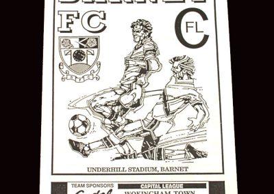 Barnet Reserves v Wokingham Reserves 16.12.1991