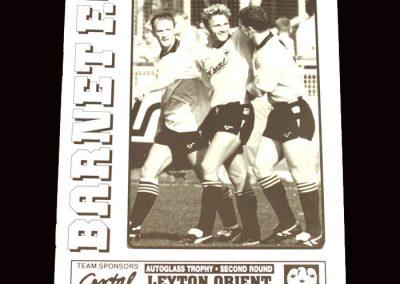 Barnet v Leyton Orient 04.02.1992 FA Trophy 4th Round