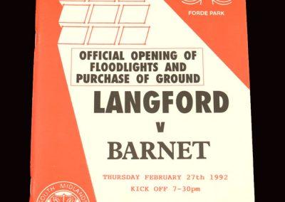 Barnet v Langford 27.02.1992 (Floodlights Game)