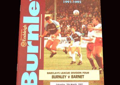 Barnet v Burnley 07.03.1992