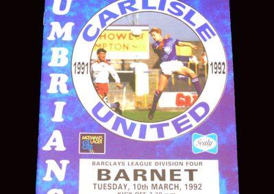 Barnet v Carlisle 10.03.1992