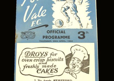 Port Vale v Darlington 29.04.1954