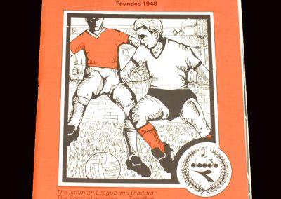 Barnet v Boreham Wood 17.03.1992 (Herts Cup semi final)