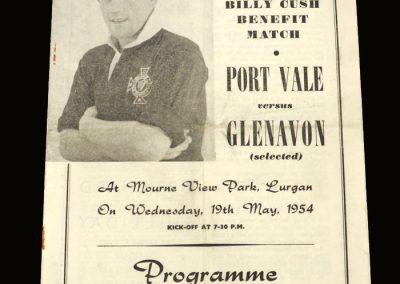 Port Vale v Glenavon 19.05.1954 - Cush Testimonial