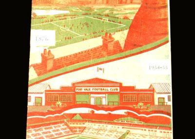Port Vale v Derby County 18.09.1954
