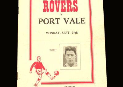 Port Vale v Doncaster 27.09.1954