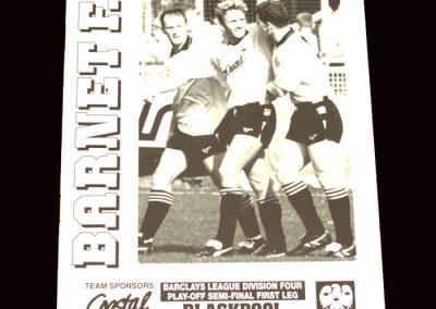 Barnet v Blackpool 10.05.1992 - League Four Play-Offs Semi Final 1st Leg