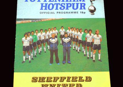 Spurs v Sheffield United 20.08.1977