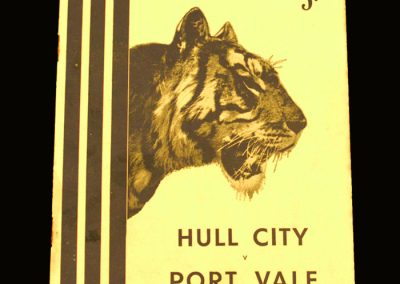 Port Vale v Hull 16.10.1954