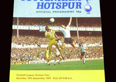Spurs v Fulham 10.09.1977
