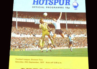 Spurs v Luton 24.09.1977