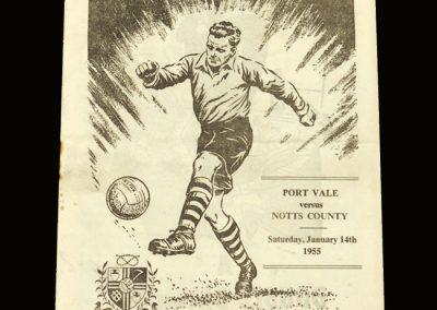 Port Vale v Notts County 14.01.1955