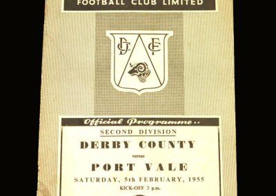 Port Vale v Derby 05.02.1955
