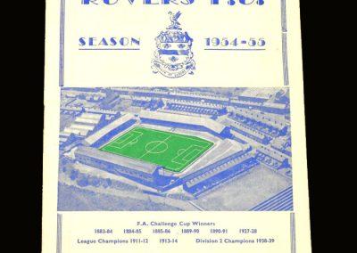 Port Vale v Blackburn 19.02.1955