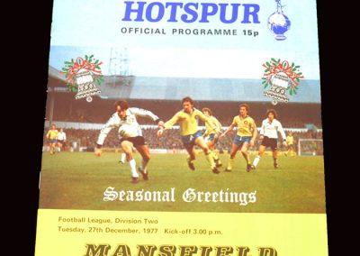 Spurs v Mansfield 27.12.1977