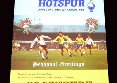 Spurs v Blackburn 31.12.1977