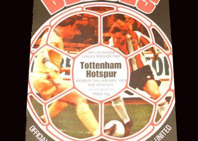 Spurs v Sheffield Utd 02.01.1978
