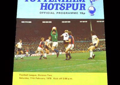 Spurs v Blackpool 11.02.1978