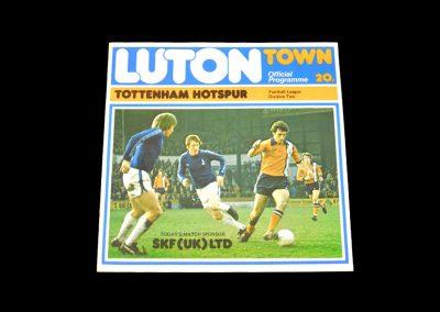 Spurs v Luton 22.02.1978