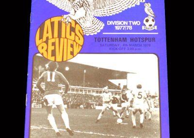 Spurs v Oldham 04.03.1978