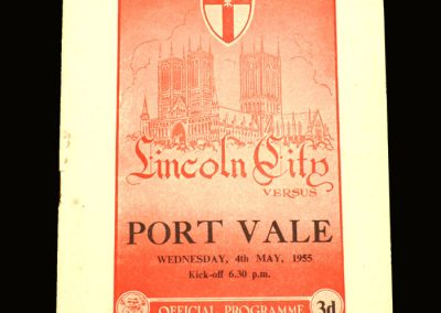 Port Vale v Lincoln 04.05.1955