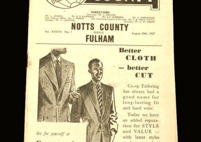 Notts County v Fulham 29.08.1957