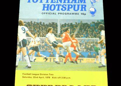 Spurs v Sunderland 22.04.1978