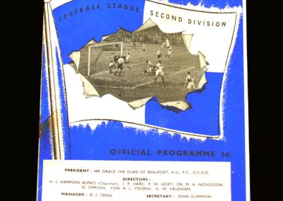 Notts County v Bristol Rovers 28.09.1957