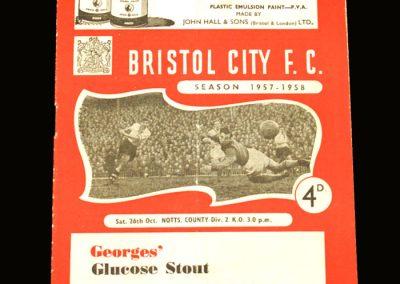 Notts v Bristol City 26.10.1957