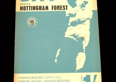 Man City v Notts Forest 02.09.1967