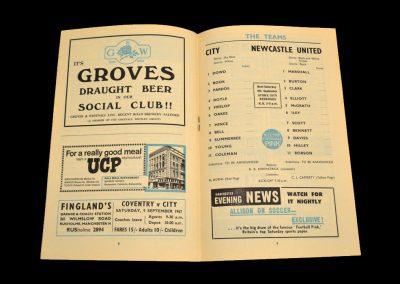 Man City v Newcastle 06.09.1967