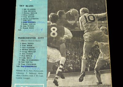 Man City v Coventry 09.09.1967