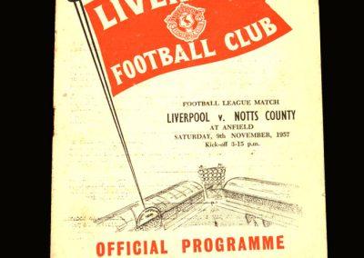 Notts County v Liverpool 09.11.1957