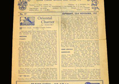 Notts County v Leyton Orient 23.11.1957