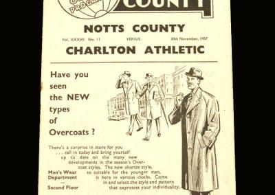 Notts County v Charlton 30.11.1957