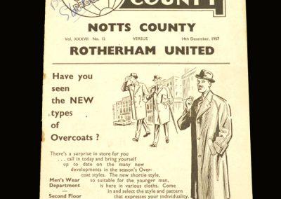 Notts County v Rotherham 14.12.1957