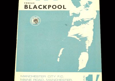 Man City v Blackpool 11.10.1967 - League Cup 3rd Round