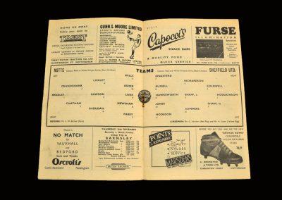 Notts County v Sheffield Utd 21.12.1957