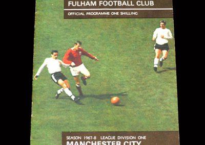 Man City v Fulham 21.10.1967