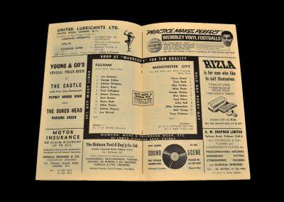 Man City v Fulham 01.11.1967