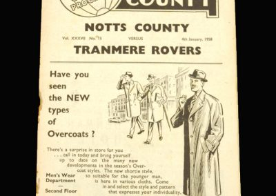 Notts County v Tranmere 04.01.1958 - FA Cup 3rd Round