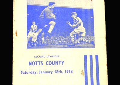 Notts County v Huddersfield 18.01.1958