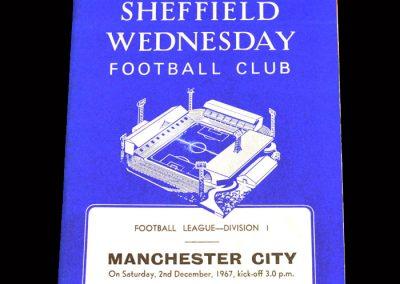 Man City v Sheff Wed 02.12.1967