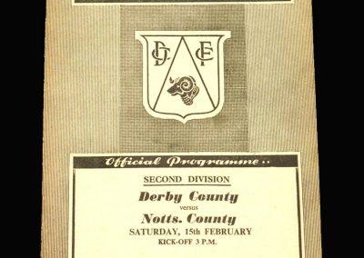 Notts County v Derby 15.02.1958